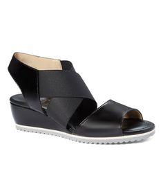Black Marino Wedge Sandal