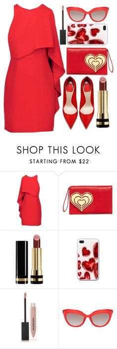 """""""RED"""" by fashionista-sweets on Polyvore featuring Halston Heritage, Jonathan Adler, Gucci and Burberry"""