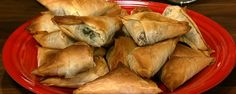 Michael Symon's Spinach Phyllo Pies  http://abc.go.com/shows/the-chew/recipes/holidays-michael-symon-spinach-phyllo-pies