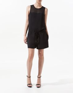 PLAYSUIT WITH LACE BACK - Dresses - Woman - ZARA United States