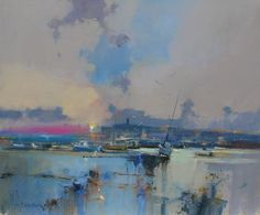 Dawn over Exeter by Peter Wileman PPROI RSMA EAGMA FRSA