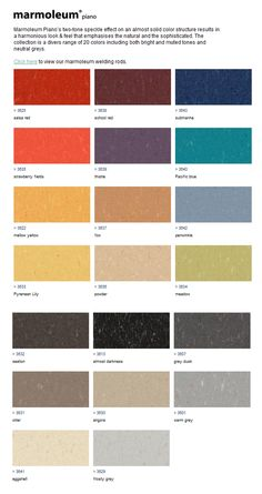 Forbo Marmoleum flooring from renewable and recycled materials - available through Green Depot
