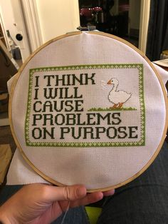 Cross stitch community - patterns, discussions, giveaways, and competition! Embroidery Art, Cross Stitch Embroidery, Embroidery Patterns, Funny Embroidery, Cross Stitch Designs, Funny Cross Stitch Patterns, Needle And Thread, Cross Stitching, Needlework
