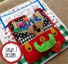 Adorable sequel to Where's max? In this quiet book Max searches for the perfect home. PDF PAttern by Lindy J Design at Etsy.