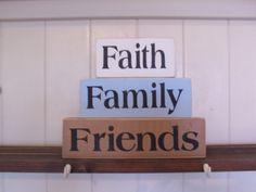 faith family friends block set