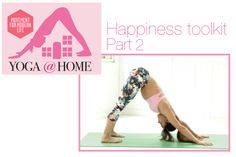 Happiness toolkit -Part 2    Welcome to yoga happiness... with Sylvia Garcia    More poses to lift your mood. Here you will find plenty of hip openers because the hips are a part of the body that holds a