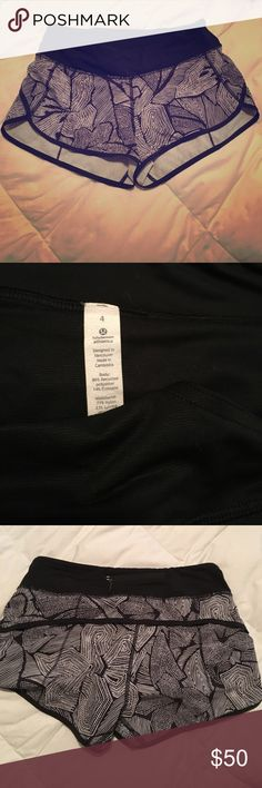 Like new Lululemon shorts These shorts have only been worn a few times.  Perfect condition! lululemon athletica Shorts