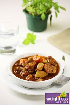 Sausage & Bean Soup. #HealthyRecipes #DietRecipes #WeightLossRecipes weightloss.com.au