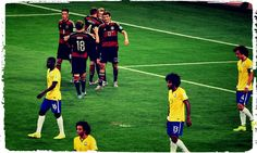Brazil have learned lessons from their humiliating World Cup exit four years ago and are in better shape for Russia, says midfielder Paulinho.The five-time world champions suffered an embarrassing semi-final defeat to Germany in front of their. Germany National Football Team, World Cup 2014, Fifa World Cup, Brazil Vs Germany, Sports App, Association Football, Today In History, World Cup Final, Olympic Champion