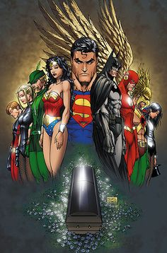 #Justice #League #Fan #Art. (In Remembrance of Mike Turner) By: MichaelWKellarINKS.