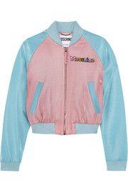 Moschino - + My Little Pony appliquéd Lurex bomber jacket