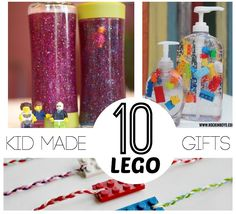 Awesome list of FUN LEGO Gifts to build. Make your own picture frames, camping lanterns, candy dispenser and more- all out of LEGO!