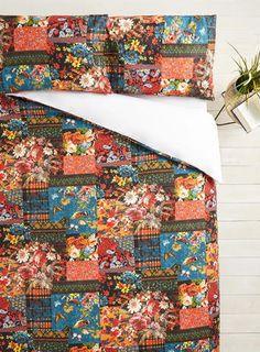 Vintage Tapestry Patch Floral Pattern Bedding Set autumn bedlinen patchwork