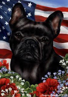 French Bulldog Tamara Burnett Patriotic Flag French Bulldog