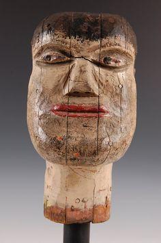 Wood Head sculpture
