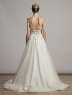 This elegant Liancarlo 6819 wedding dress is Brand New! You can try on this gown with our wonderful no risk return policy! Sheer Wedding Dress, Wedding Dresses With Straps, Wedding Dress Sizes, Gorgeous Wedding Dress, Lace Wedding, Discount Designer Wedding Dresses, Designer Wedding Gowns, Sophisticated Bride, Elegant