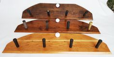 Stained Wood Golf Club Coat Rack / Hat Rack and by MRWoodCrafting