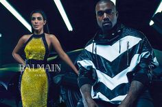 Mario Sorentti, Balmain, 2014. This photograph of Kim Kardashian and Kanye west was taken as a fashion photo to promote Balmain clothing line. The photo was taken with a digital camera. In the frame we can see many artificial lights used as a ceiling. There are many lines in the photo it is almost as though the clothes Kanye is wearing is parallel to the lines on the ceiling. There are not may effects but definately the colours have been altered also same goes for the contrast and…