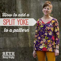Beth Being Crafty: Split-Yoke Ruby Top!