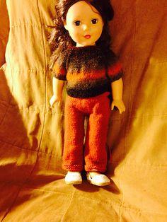 DK Ravelry: Knitted slacks for 18-inch doll pattern by Pam MacKenzie