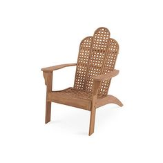 Carmen Adirondack Chair Outdoor Adirondack Chairs ($559) via Polyvore featuring home, outdoors, patio furniture, outdoor chairs, natural, woven outdoor chairs, outdoors patio furniture, outdoor patio furniture, teak patio furniture and teak patio chairs