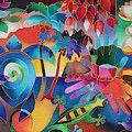 Island Flowers - Frangipani Painting by Maria Rova