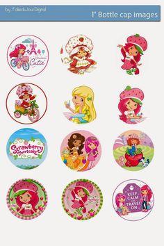 Free Bottle Cap Images: Strawberry Shortcake free bottle cap images