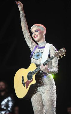 Katy Perry from The Big Picture: Today's Hot Photos Eye see you! The singer performs on day 3 of the Glastonbury Festival 2017 at Worthy Farm in England.