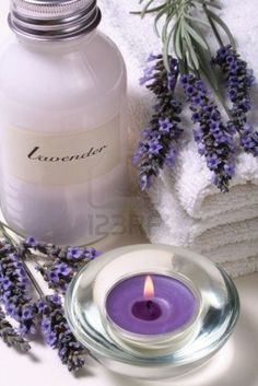 Lavender spa, some objects of relaxation and body treatment...