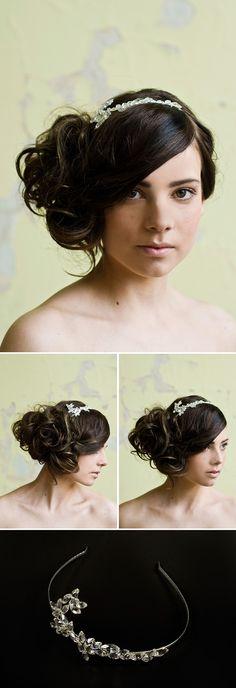 Serre tête #Weddinghairstyle #coiffuremariee #wedding #hairstyle #coiffure #mariee