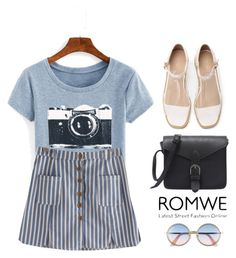 """""""ROMWE ~camera girl~"""" by gabygirafe ❤ liked on Polyvore featuring Sunday Somewhere and romwe"""