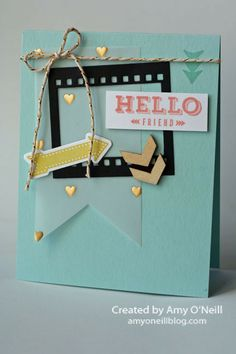 Photo Strip Hello  Stampin' Up!