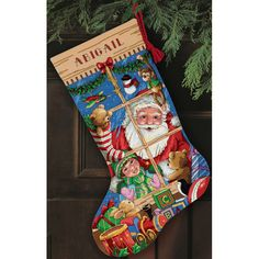 Gold Collection Santa's Toys Stocking Counted Cross Stitch Kit - Overstock™ Shopping - Big Discounts on Dimensions Cross Stitch Kits