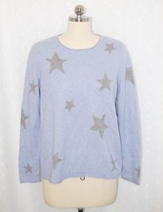 c70d6b6e984 CHRISTIAN BERG Stockholm 100% Cashmere Blue Crewneck Sweater L