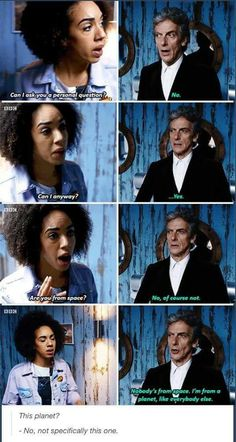 I enjoy the interplay between Doctor Twelve and Bill