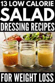 Healthy Salad Dressing: 13 Delicious Low Calorie Recipes | Looking for healthy yet delicious homemade salad dressing recipes to support your diet and weight loss goals? Whether you're on the Weight Watchers diet, follow a low carb, low calorie diet, or have the strength for something hard core like the paleo, whole30, or vegan diets, we've rounded up the best skinny salad dressings that are easy to make and taste DELISH!