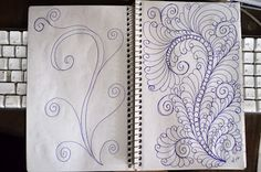 quilting doodles by:LuAnn Kessi from: http://luannkessi.blogspot.com