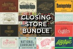 Closing Store Bundle (All Products) by Decade Type Foundry on @creativemarket