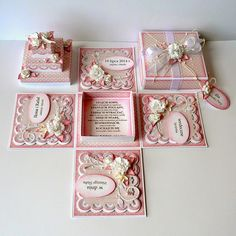 Card In A Box, Pop Up Box Cards, Wedding Boxes, Wedding Cards, Scrapbook Box, Exploding Box Card, Diy And Crafts, Paper Crafts, Memories Box