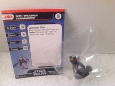 6X Star Wars Champions of the Force 18/60 Sith Trooper Commander (U) Miniatures