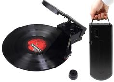 Evergreen portable USB record player with built in speaker