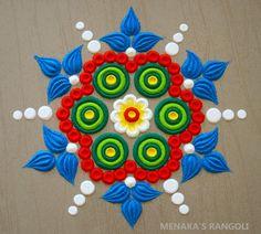 Small Rangoli Design, Easy Rangoli Designs Diwali, Simple Rangoli Designs Images, Rangoli Designs Flower, Free Hand Rangoli Design, Rangoli Border Designs, Rangoli Ideas, Colorful Rangoli Designs, Diwali Rangoli