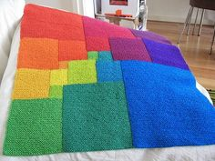 Ravelry: Square Deal pattern by Woolly Thoughts Crochet Quilt, Crochet Blanket Patterns, Knit Crochet, Knitting Patterns, Knitted Afghans, Knitted Blankets, Loom Knitting, Baby Knitting, Knitting Projects