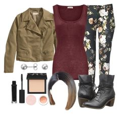 """Malia Tate 5x05 ""A Novel Approach"" Outfit"" by travelerofthenight ❤ liked on Polyvore featuring H&M, American Vintage, Topshop, Korres, NARS Cosmetics, Blue Nile and Steve Madden"