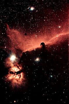 Horsehead Nebula. A view I've not seen before with the dark background.