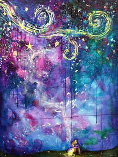 An original mixed media painting by Stephen Lursen. on gallery depth canvas. This painting is richly colored and has little moments of reflective gold lea Glitter On Canvas, Street Art, To Infinity And Beyond, Illustrations, Love Art, Painting Inspiration, Painting & Drawing, Zentangles, Art Projects
