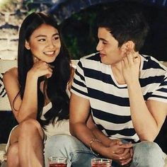 this is so real. don't tell me that stare is scripted. don't be bitter :) Kim Sejeong, James Reid, Nadine Lustre, Jadine, Best Friend Goals, Partners In Crime, Just Friends, Couple Posing, Perfect Match