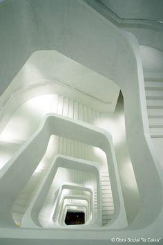 Escalera CaixaForum Madrid