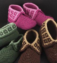 Crochet Slippers Pattern Family Slippers by TheCrochetArchitect Crochet Slipper Pattern, Crochet Shoes, Crochet Slippers, Crochet Blanket Patterns, Crochet Blankets, Easy Crochet, Crochet Baby, Knit Crochet, Crochet Phone Cases