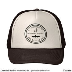 Certified Hooker Humorous Fishing Trucker Hat This is the perfect gift to  any fisherman with a ee8f6e2e9b6f